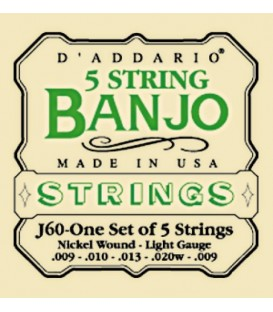 Discounts on Banjo Strings - TWO SETS Ball End - Daddario 5-String J69B strings