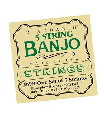 Discounts on Banjo Strings - TWO SETS Light Gauge Banjo Strings - Daddario J60