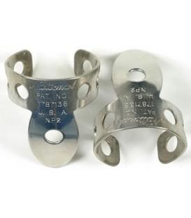 National Vintage Style Nickel Silver Finger Banjo Picks -set of 2 - Model: NP2