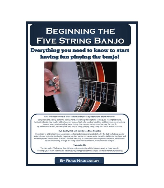 Beginning the Five-String Banjo - Book/DVD/CD - Ross Nickerson