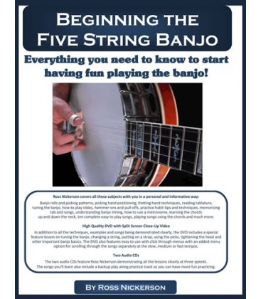 Book - Beginning the Five-String Banjo Book/CD and DVD