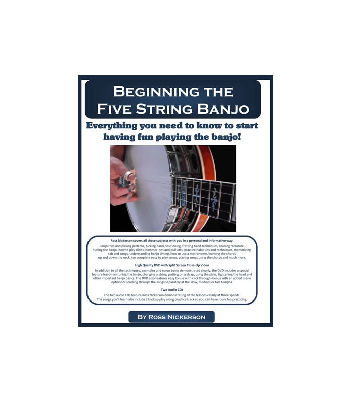 Beginner Book for Banjo - Banjo CDs | Books | Tabs | Banjo ...