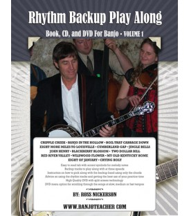 Book - Rhythm Backup Band Play Along Spiral Bound Book, CD and DVD Volume 1