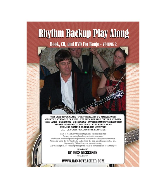 Rhythm Backup Band Play Along Vol 2 - Spiral Bound Book/CD/DVD By Ross Nickerson