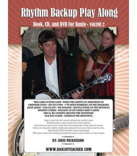 Book - Rhythm Backup Band Play Along Volume 2 / Wire Bound Hard Copy Book with CD and DVD