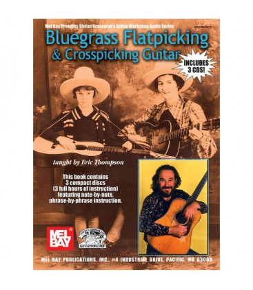 Book - Guitar - Bluegrass Flatpicking & Crosspicking Guitar - Book/3 CD Set