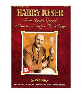 Book - Harry Reser Tenor Banjo Legend 26 Virtuoso Solos for Tenor Banjo