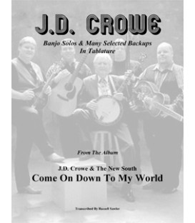 Book - J.D. Crowe Banjo Solos - The New South - Come On Down To My World