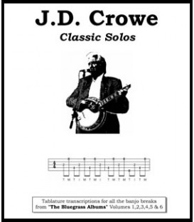 Book - J.D. Crowe Classic Solos Tablature transcriptions