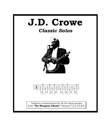 Book - J.D. Crowe Classic Solos  Tablature transcriptions