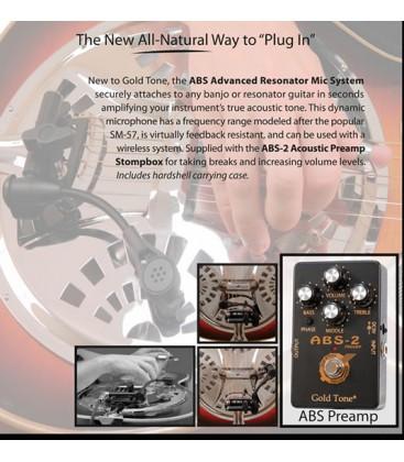 Pickup - ABS Gold Tone Banjo or Dobro Mic/Pickup with preamp
