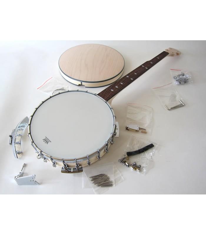 Gold tone mc 150 maple classic banjo kit build your own banjo gold tone maple classic 150 kit with resonator solutioingenieria Image collections