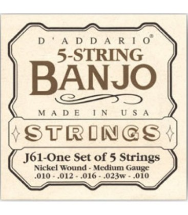 Strings - D'Addario Medium Gauge Banjo Strings
