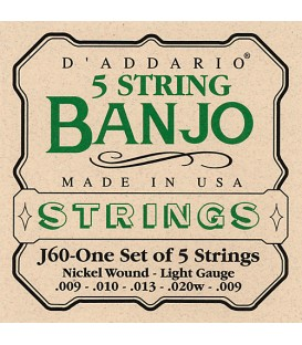 D'Addario Light Gauge Strings - J60
