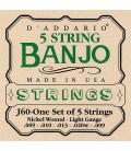 D'Addario Light Gauge Strings - J60