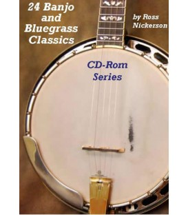 CD ROM - 24 Banjo and Bluegrass Classic CD Rom Series/two discs CD Rom Series/two discs