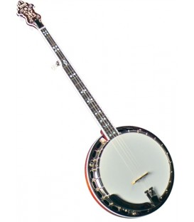 Banjo - Flinthill FHB-280 Mahogany Resonator Banjo with hardshell case