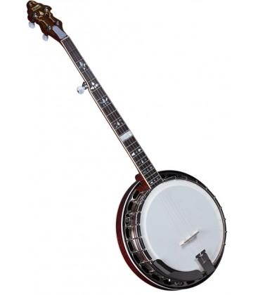 Banjo - Flinthill FHB-300A Maple Resonator Banjo with hardshell case - Raised Head