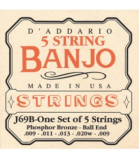 Strings - D'Addario J69B Phosphor Bronze Light Ball End String Gauges