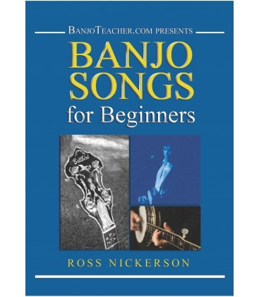 Book - Banjo Songs for Beginners Hard Copy Book, DVD and CD
