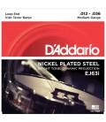 D'Addario J63i Nickel Plated Steel Irish Tenor Banjo Strings - 12-36