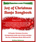 Joy of Christmas Banjo Book - Spiral Bound Book/CD/DVD By Ross Nickerson