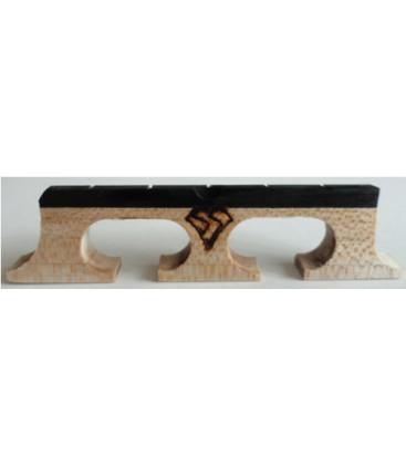 Snuffy Bridge - Radiused Banjo bridge for banjos with a radius neck/fingerboard