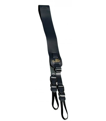 MORGAN MONROE MBS-QR3-BK BANJO STRAP QUICK RELEASE BLACK LEATHER