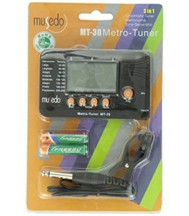 Musedo Chromatic Instrument Tuner Metronome and Tone Generator MT-30