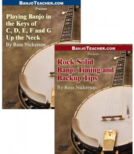 Online DVDs - Two - Playing Banjo in Different Keys - Banjo Timing and Backup