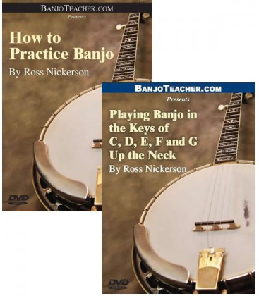 How to Practice Banjo and Playing in the Keys of C, D, E, F, and G Up the Neck