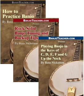 Online Lesson Buy all three How to Practice Banjo Rock Solid Banjo Timing and Backup Tips Playing in the Keys of C, D, E,