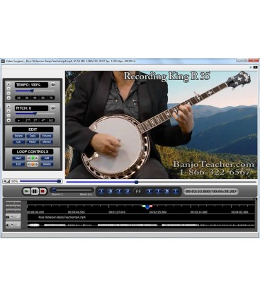 Song Surgeon - Video Surgeon - Slow Down Banjo Music and You Tube