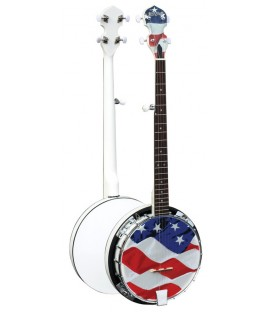 Morgan Monroe - Old Glory - USA Series Banjo - FREE Beginner Banjo Kit