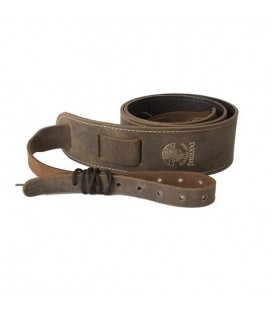 Deering Stitched Leather Cradle Strap - Fits All Open Back Banjos
