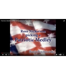 Patriotic Medley on Banjo - Complete Tab Transcription Available - Advanced Banjo Tab - Ross Nickerson Video
