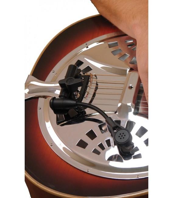 ABS Gold Tone Dobro/Resophonic Guitar Mic/Pickup