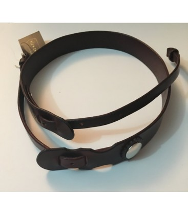 button post leather banjo strap new way to attach a banjo strap. Black Bedroom Furniture Sets. Home Design Ideas