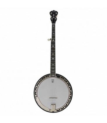 DEERING WHITE LOTUS 5-STRING BANJO