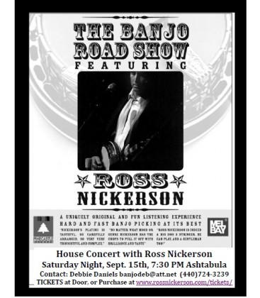 Ross Nickerson - House Concert - Sat. Sept. 15th 7:30PM - Cleveland Area
