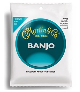 Medium Gauge Banjo Strings - 5-string - Martin Vega- V730
