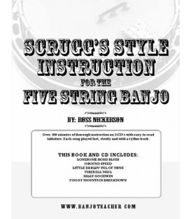 Scruggs Style Instruction for Five-String Banjo - Spiral Bound Book/CDs By Ross Nickerson