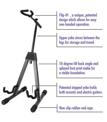 Professional Flip-It A-Frame Guitar Stand - GS7465