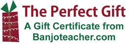 Banjoteacher.com Gift Certificates