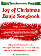 Christmas Banjo Tab Book by Ross Nickerson