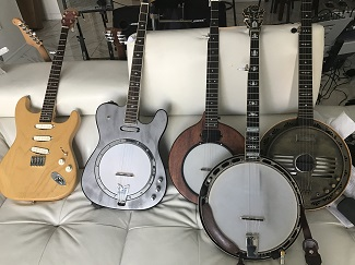 Pictures of Electric Banjos