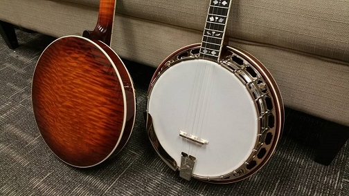 recording king flamed maple resonator and neck rk85-banjo