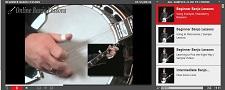 online video banjo player