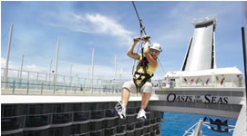 zip line on cruise