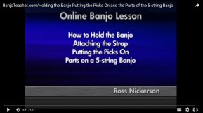 Free Video on How to Hold the Banjo, Attach a Strap and Put Picks On